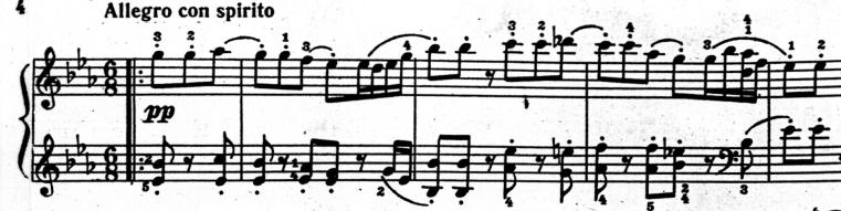 симфония 103, главная партия 1й части