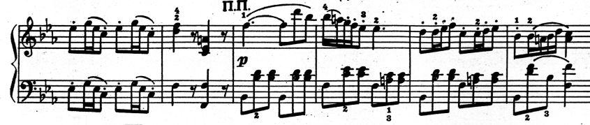 103 симфония, побочная партия 1й части